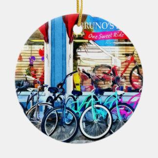 Bicicletas y chocolate ornamento para arbol de navidad