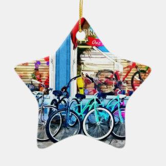 Bicicletas y chocolate adorno de navidad