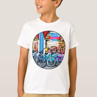 Bicicletas y chocolate playera