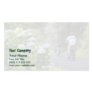 Bicicletas y hydrangeas tarjetas de visita