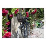 Bicicletas y rosas en Suecia Felicitacion