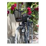 Bicicletas y rosas en Suecia Postal