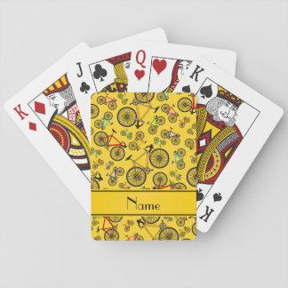 Bicis amarillas conocidas personalizadas del cartas de juego