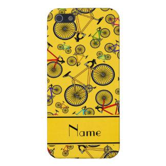 Bicis amarillas conocidas personalizadas del iPhone 5 carcasas