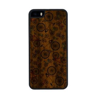 Bicis amarillas del camino funda de madera para iPhone 5