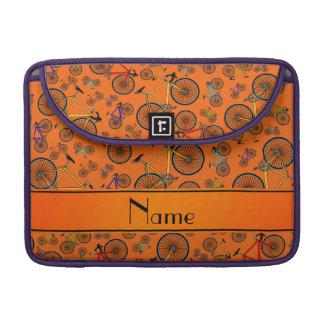 Bicis anaranjadas conocidas personalizadas del funda para macbooks