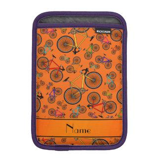 Bicis anaranjadas conocidas personalizadas del fundas iPad mini