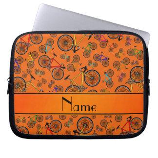 Bicis anaranjadas conocidas personalizadas del fundas ordendadores