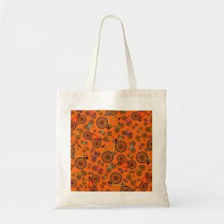 Bicis anaranjadas del camino bolsa