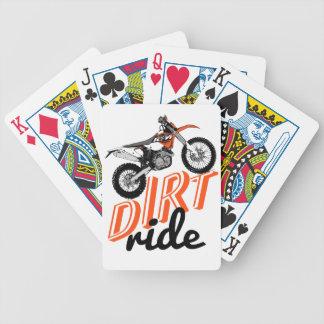 Bicis de la suciedad baraja cartas de poker