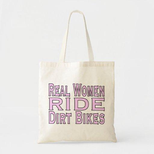 Bicis de la suciedad del paseo de las mujeres bolsa tela barata