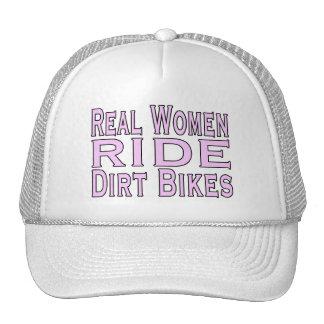 Bicis de la suciedad del paseo de las mujeres real gorro de camionero