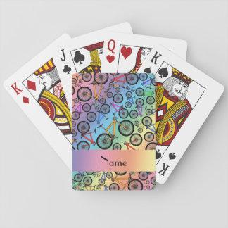Bicis de montaña conocidas personalizadas del arco barajas de cartas