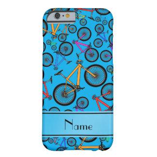 Bicis de montaña conocidas personalizadas del azul funda para iPhone 6 barely there