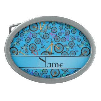 Bicis de montaña conocidas personalizadas del azul hebilla cinturon oval