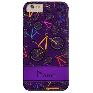 Bicis de montaña púrpura conocidas personalizadas funda de iPhone 6 plus tough