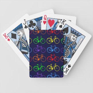 Bicis del arco iris baraja de cartas