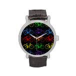 Bicis del arco iris relojes de pulsera