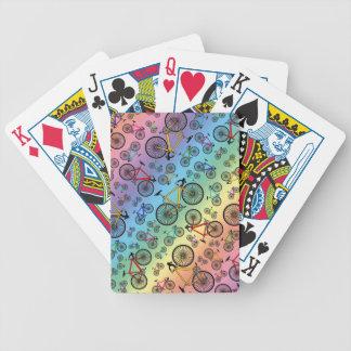 Bicis del camino del arco iris baraja de cartas
