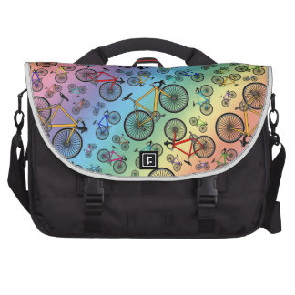 Bicis del camino del arco iris bolsas de ordenador