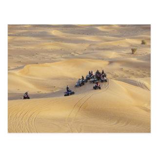 Bicis del patio del desierto Dubai Tarjetas Postales