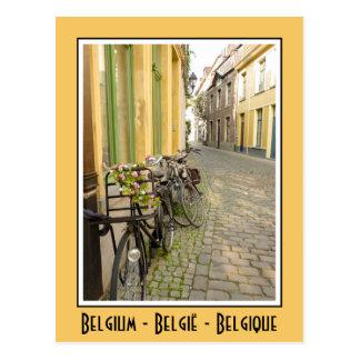 Bicis en Bélgica Tarjeta Postal