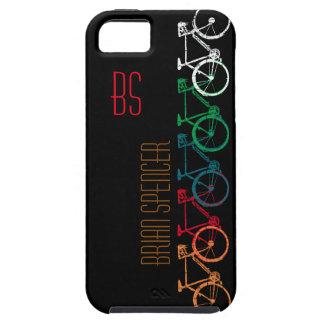 bicis en diversos colores personalizados iPhone 5 fundas