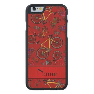 Bicis rojas conocidas personalizadas del camino funda de iPhone 6 carved® de arce