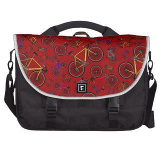 Bicis rojas del camino bolsas para portatil