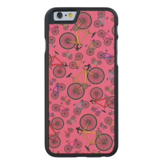 Bicis rosadas del camino funda de iPhone 6 carved® de arce