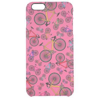 Bicis rosadas del camino funda clearly™ deflector para iPhone 6 plus de unc