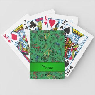 Bicis verdes conocidas personalizadas del camino baraja cartas de poker
