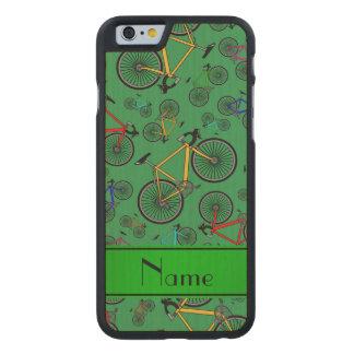 Bicis verdes conocidas personalizadas del camino funda de iPhone 6 carved® de arce