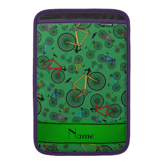 Bicis verdes conocidas personalizadas del camino funda para macbook air