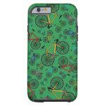 Bicis verdes del camino funda de iPhone 6 tough