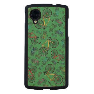 Bicis verdes del camino funda de nexus 5 carved® slim de arce