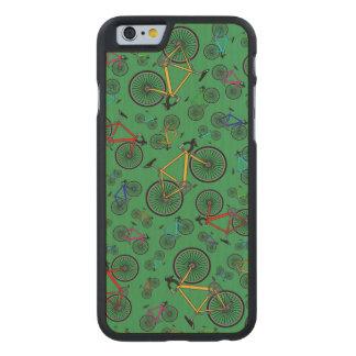 Bicis verdes del camino funda de iPhone 6 carved® slim de arce