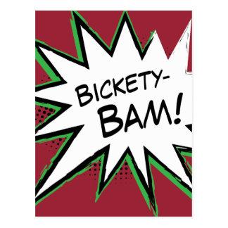 ¡Bickety-Bam! ¡Estilo frenético de Wolvie! Tarjeta Postal
