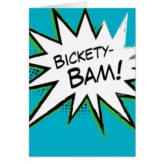 Bickety-Bam! Wolvie Berserk style! Greeting Card