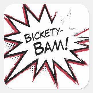 Bickety-Bam! Wolvie Berserk style! Square Sticker