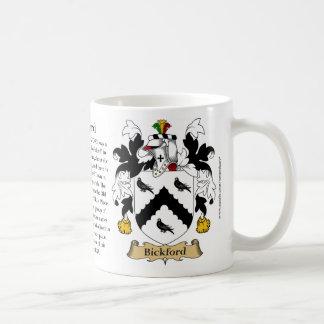 Bickford, el origen, el significado y el escudo taza