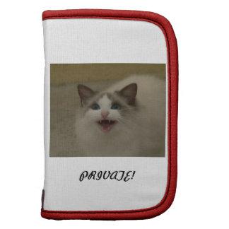 Bicolor azul del gato de Ragdoll Planificador