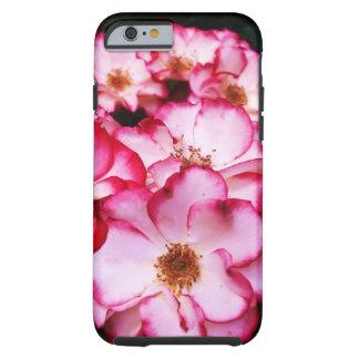 Bicolor Picotee Rose Tough iPhone 6 Case