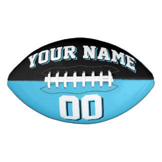BICOLORED Black And Light Blue Custom Football