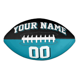 BICOLORED Black And Teal Custom Football