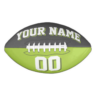 BICOLORED Dark Grey And Lime Green Custom Football