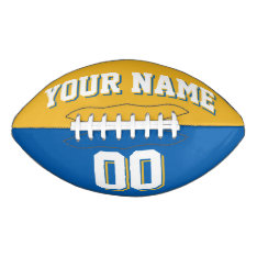 Bicolored Gold And Blue Custom Football at Zazzle