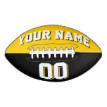BICOLORED Golden Yellow And Black Custom Football