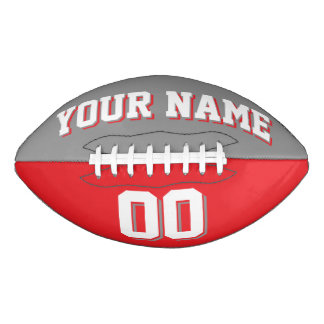 BICOLORED Grey And Red Custom Football