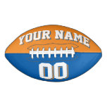 BICOLORED Light Orange And Blue Custom Football